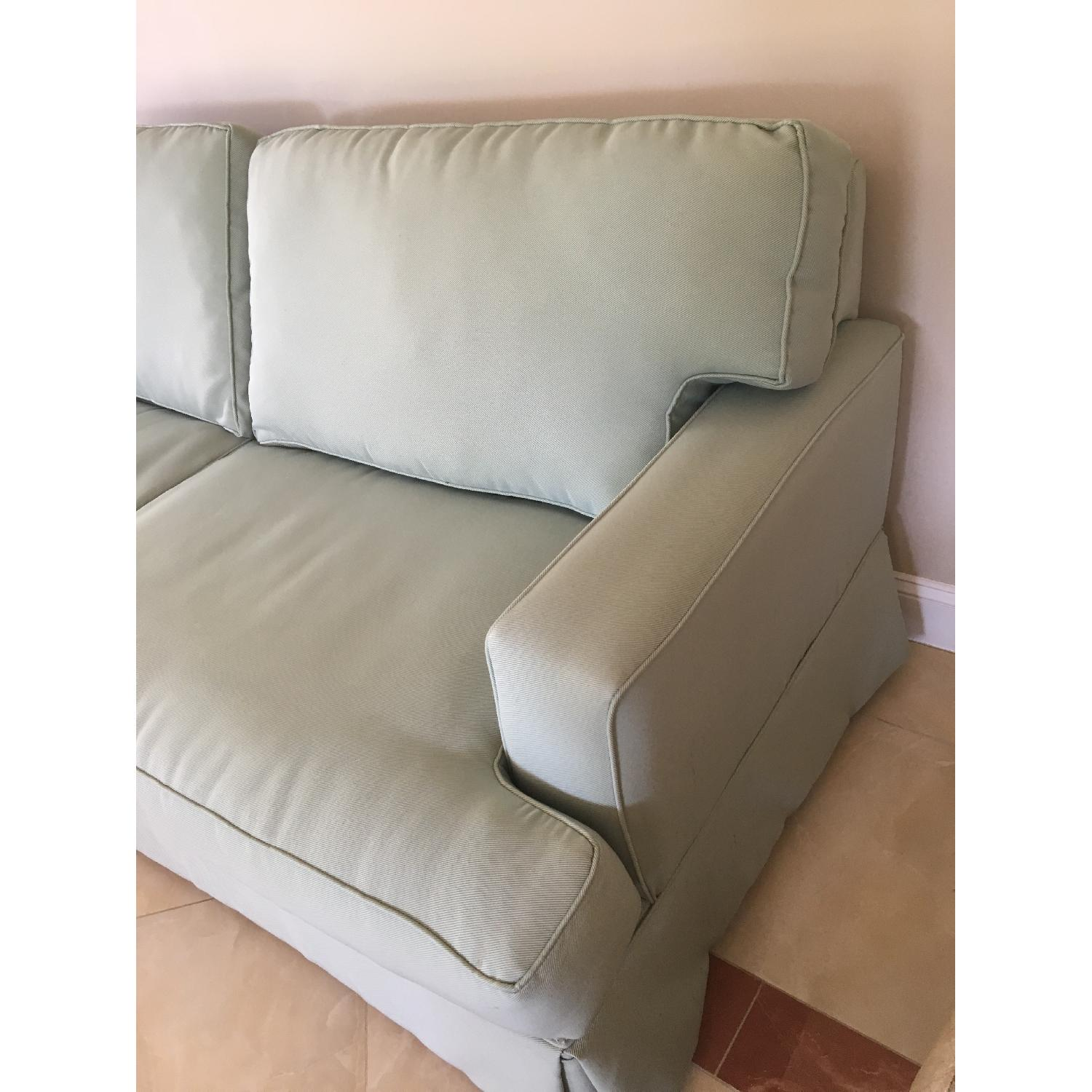 Raymour & Flanigan Sage Color Couch - image-2