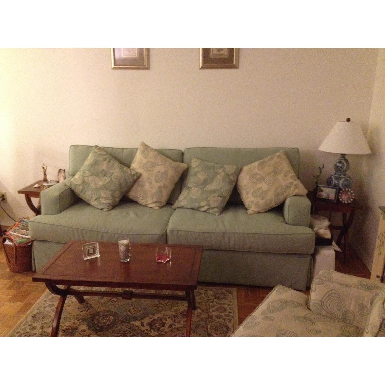 Raymour & Flanigan Sage Color Couch - image-5