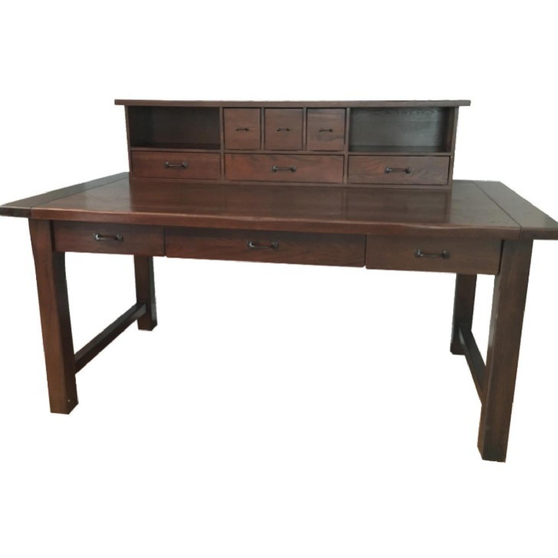 Pottery Barn Desk w/ Hutch - image-0