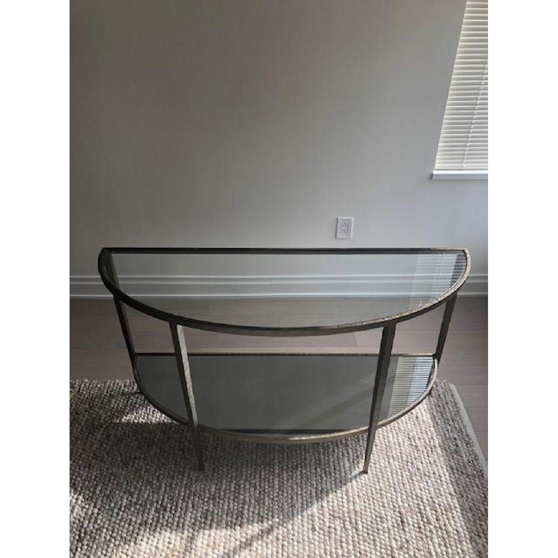 Crate & Barrel Clairemont Demilune Console Table-1