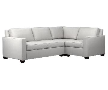 West Elm Henry 3-Piece Sectional Sofa in Oyster Weave Fabric