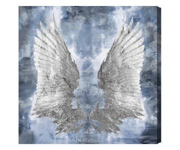 Oliver Gal My Silver Wings Canvas Wall Art
