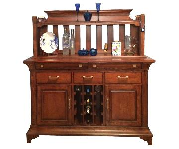 Macys Walnut Wood Buffet/Hutch