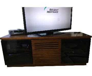 Wood & Glass TV Console