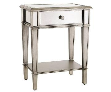 Pier 1 Hayworth Mirrored Silver Nightstands