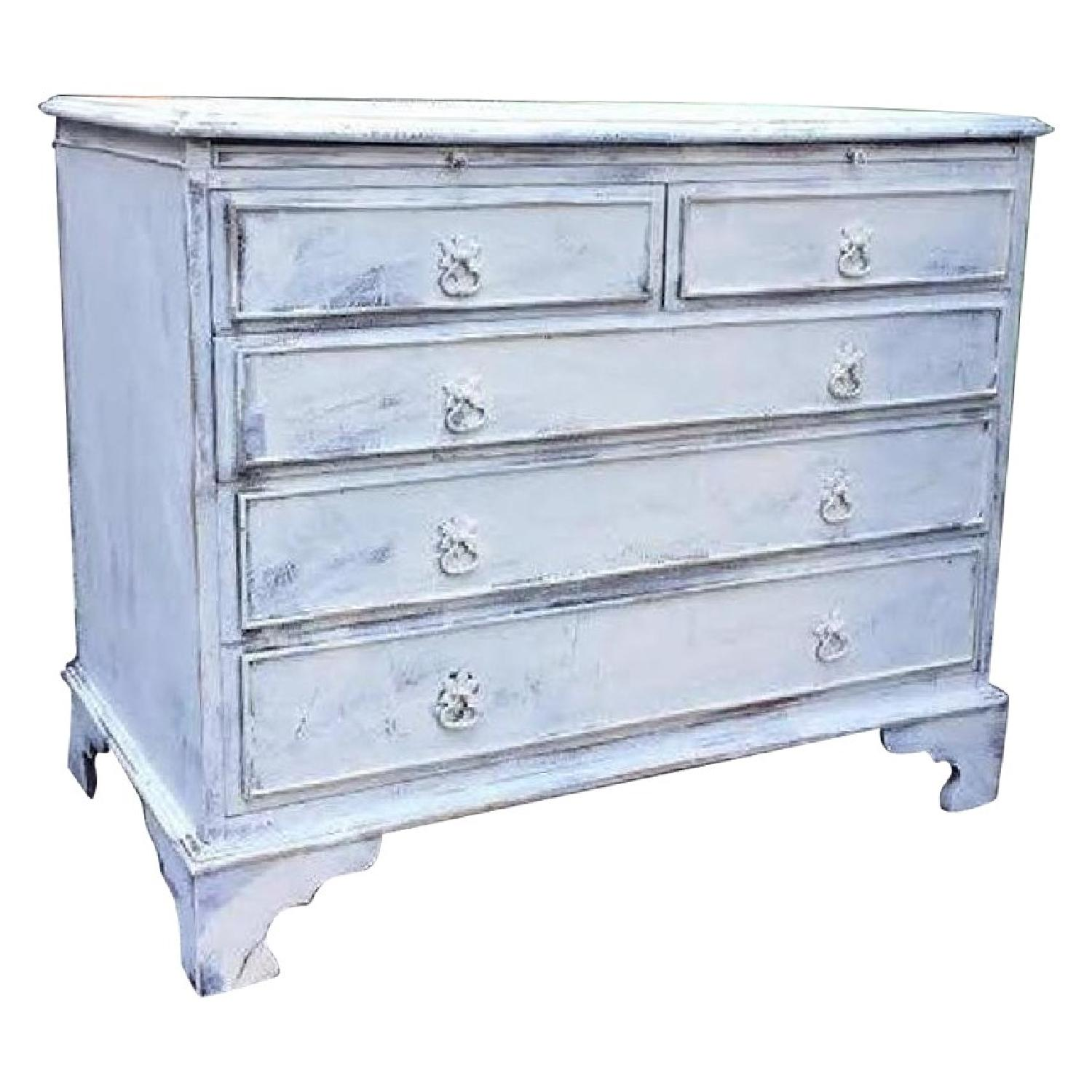 White Distressed Country Cottage Shabby Chic Dresser