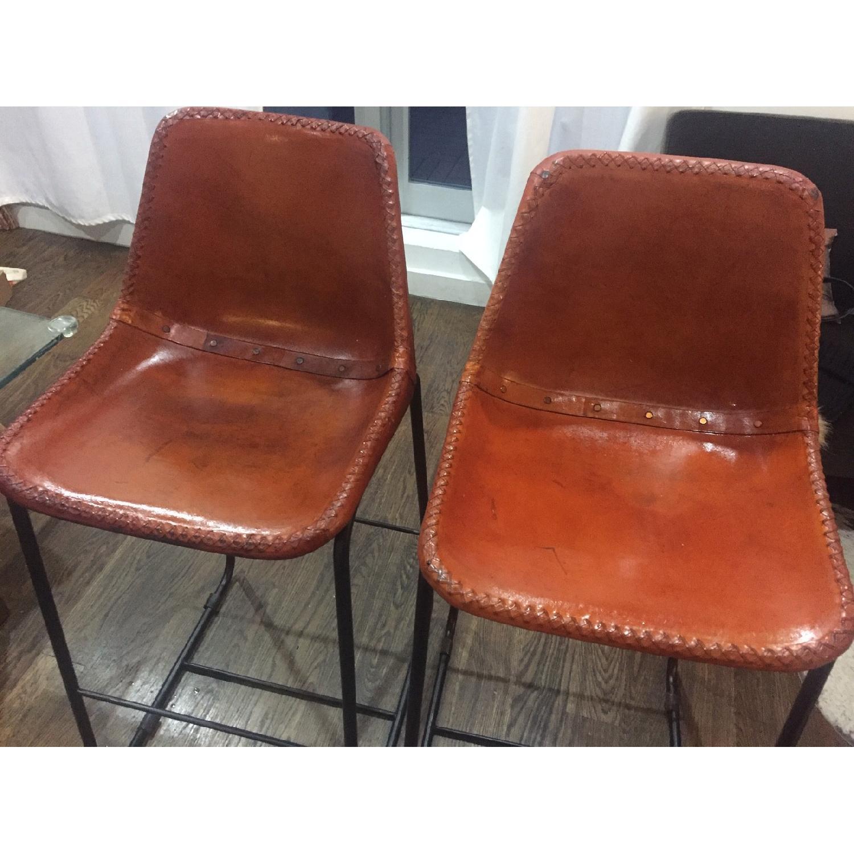 CB2 Roadhouse Leather Bar Stools-0