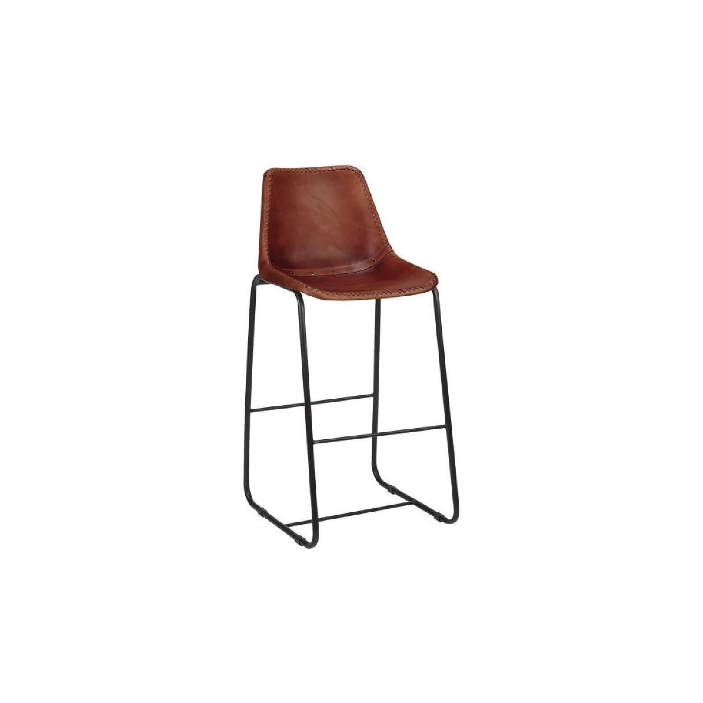 Stupendous Cb2 Roadhouse Leather Bar Stools Aptdeco Pabps2019 Chair Design Images Pabps2019Com