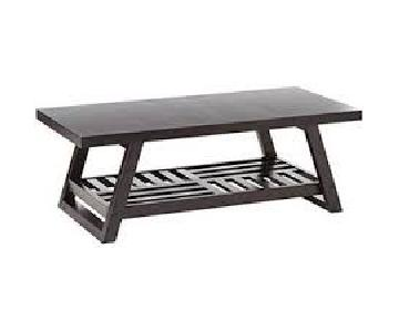 City Dark Wood Coffee Table