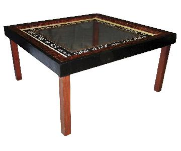 Van Dyke Glass Top Coffee Table