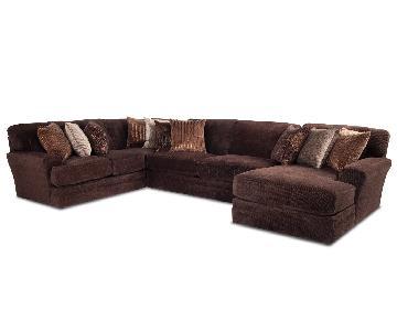 Bob's Sensational 4-Piece Sectional Sofa w/ Pillows