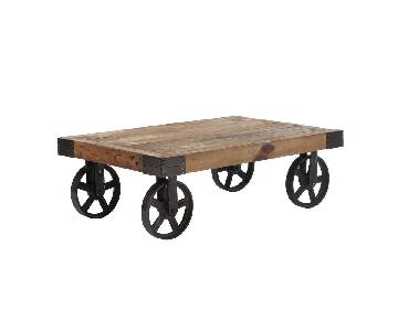 Zuo Barbary Coast Industrial Reclaimed Wood Coffee Table