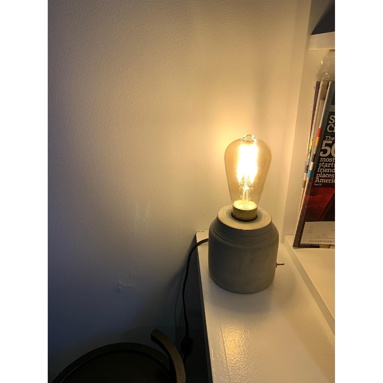 Urban Outfitters Concrete Cylinder Table Lamp-0