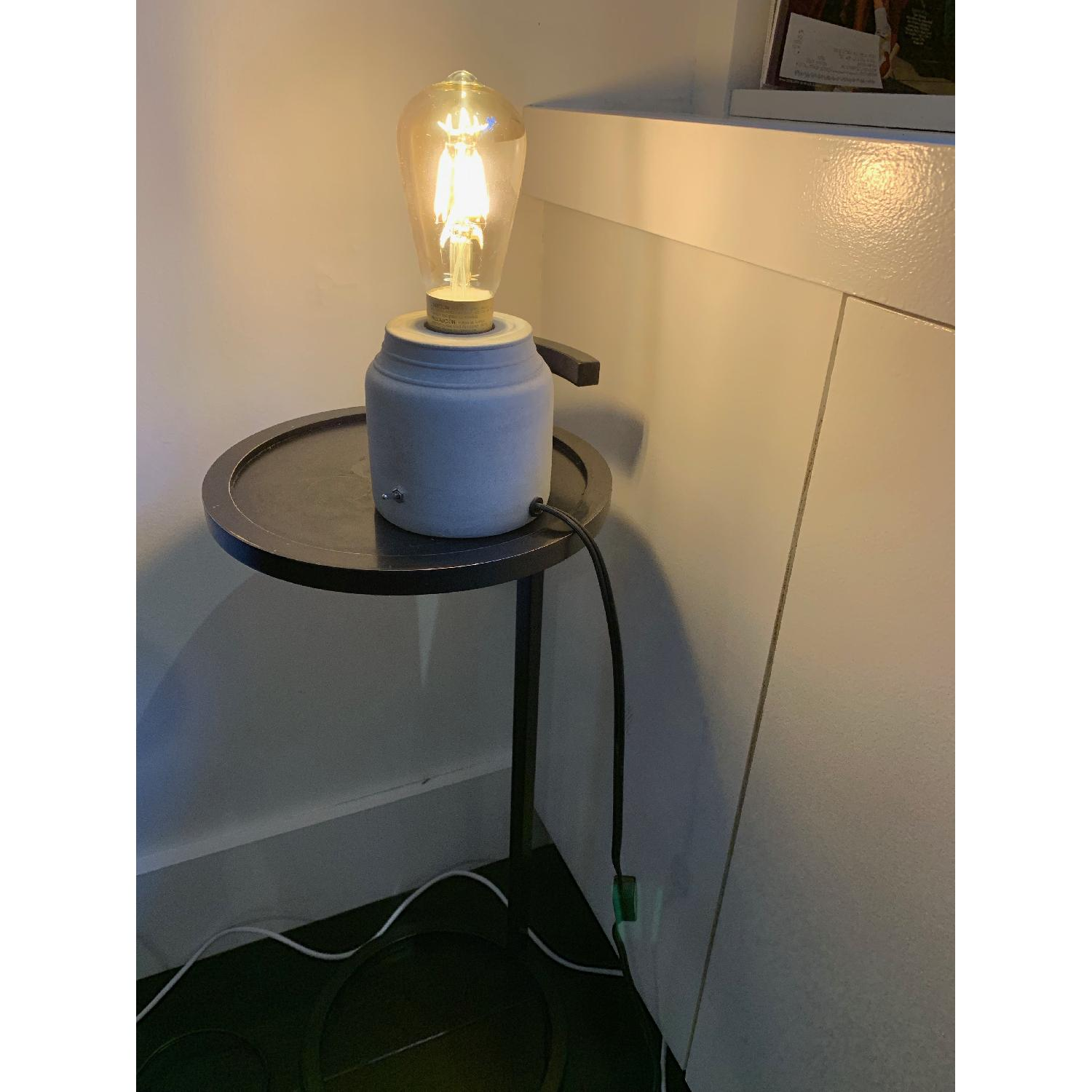 Urban Outfitters Concrete Cylinder Table Lamp-1