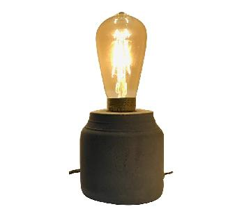 Urban Outfitters Concrete Cylinder Table Lamp