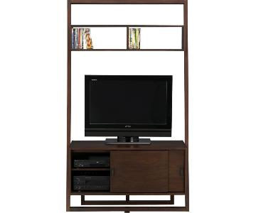 Crate & Barrel Sawyer Media Stand w/ Desk