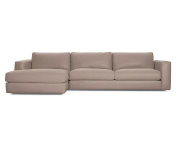 Design Within Reach Reid Left Chaise Sectional Sofa