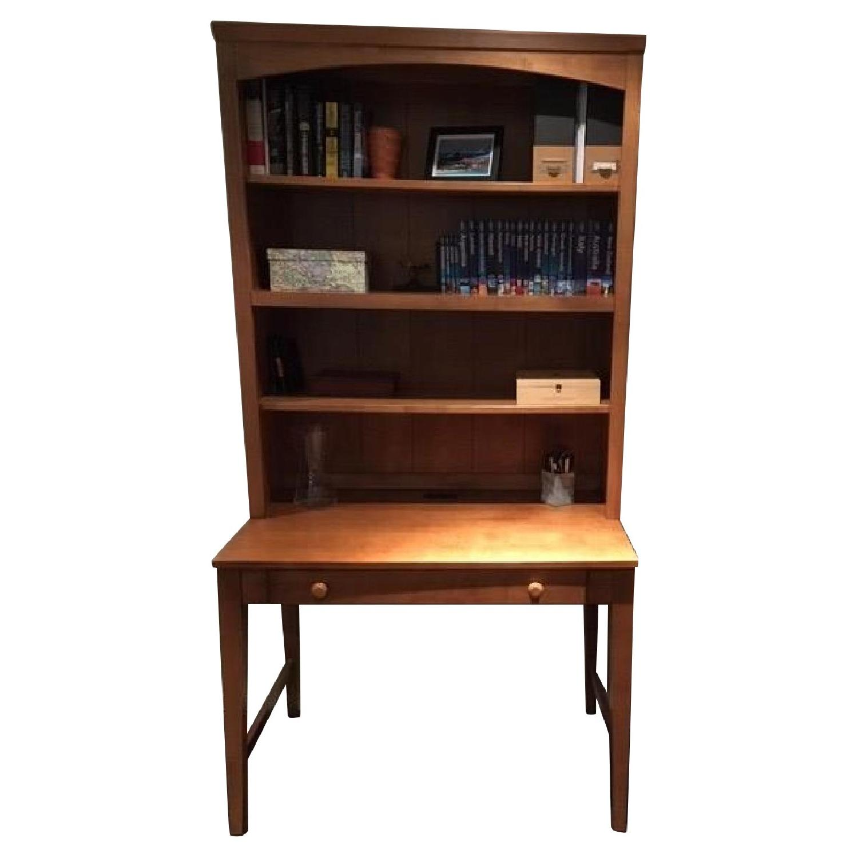 Ethan Allen Desk w/ Hutch & File Cabinet