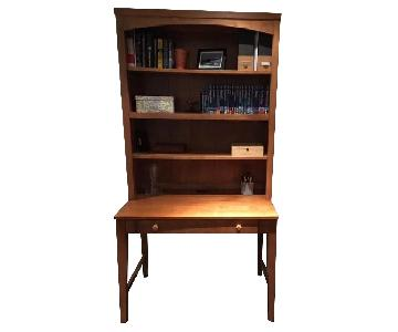 Ethan Allen Desk w/ Hutch & File Cabinet