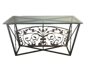Vintage French Transom Console