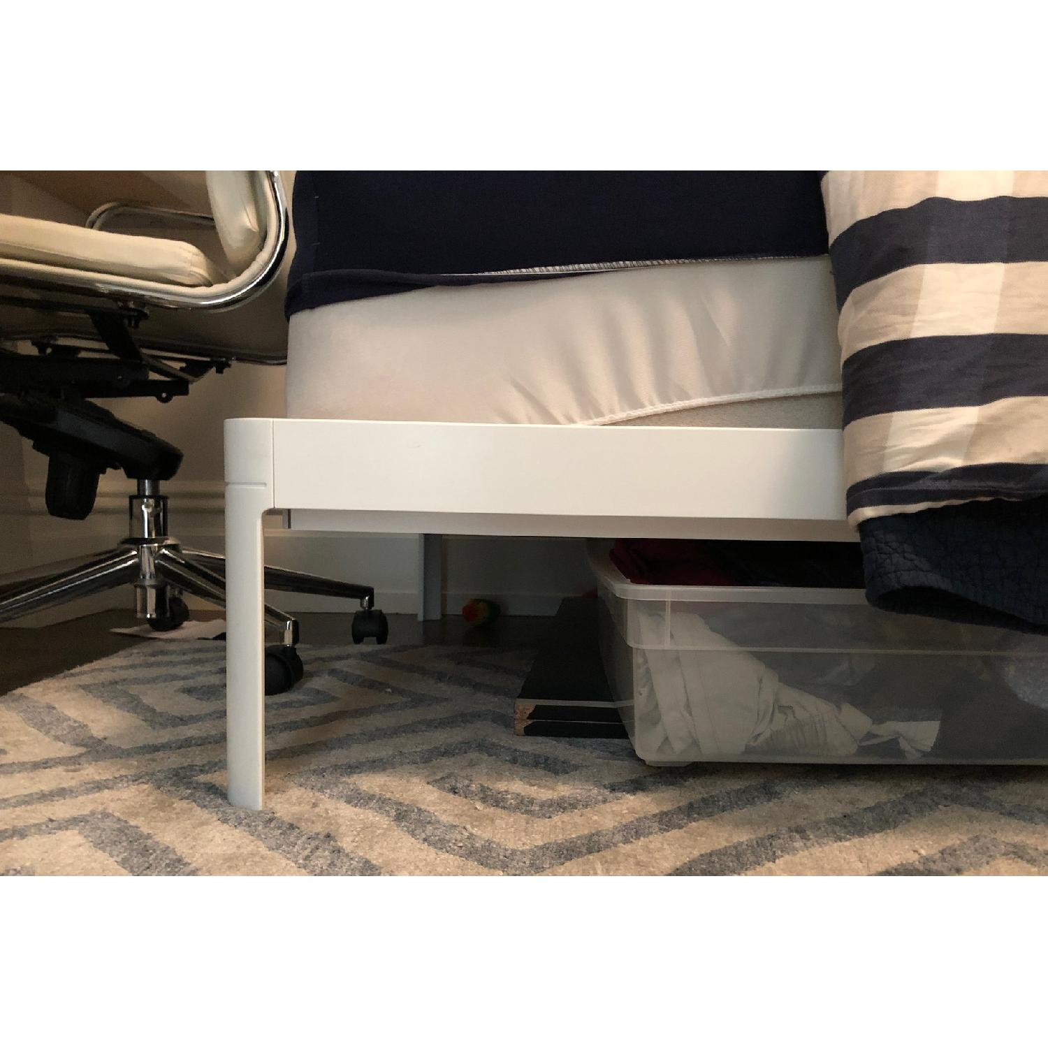 Design Within Reach Twin Min Bed in White Lacquered Metal-4