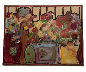 Multi-Colored Floral Painting