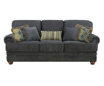 Coaster Grey Chenille Sofa