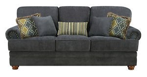 Coaster Grey Chenille Sofa