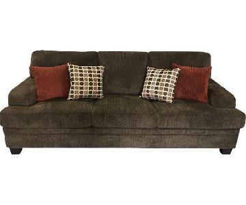 Coaster Brown Chenille Sofa
