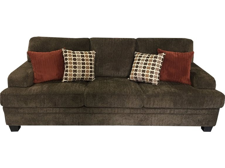 Coaster Brown Chenille Sofa