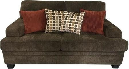 Coaster Brown Chenille Loveseat