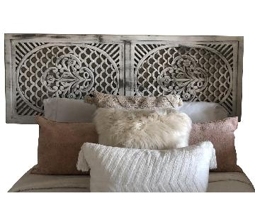 Pier 1 Distressed Wooden Screen/Headboard