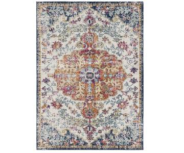 Anthropologie Hillsby Blue/Orange Area Rug