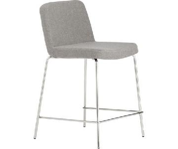 CB2 Grey Bar Stools w/ Backrest