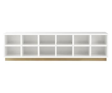 CB2 Oberlin White Large Entry Bench