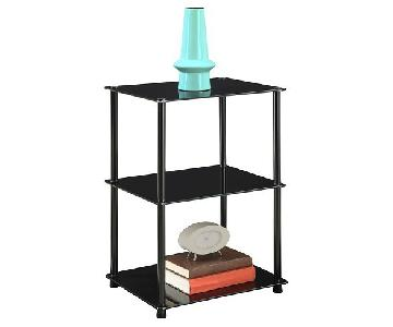 Convenience Concepts Black Tempered Glass End Table