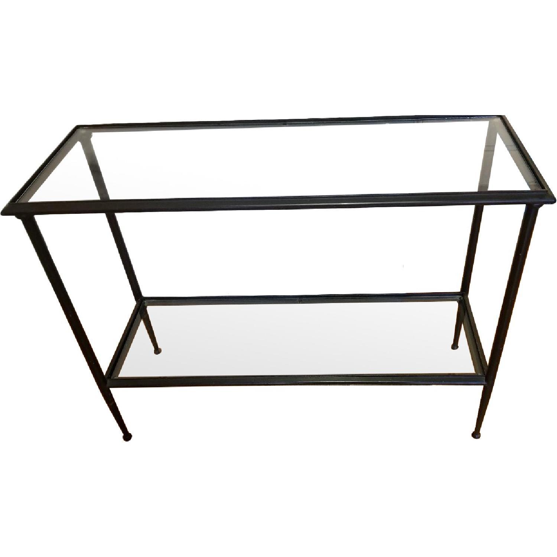 Glass & Iron Console/Sofa Table