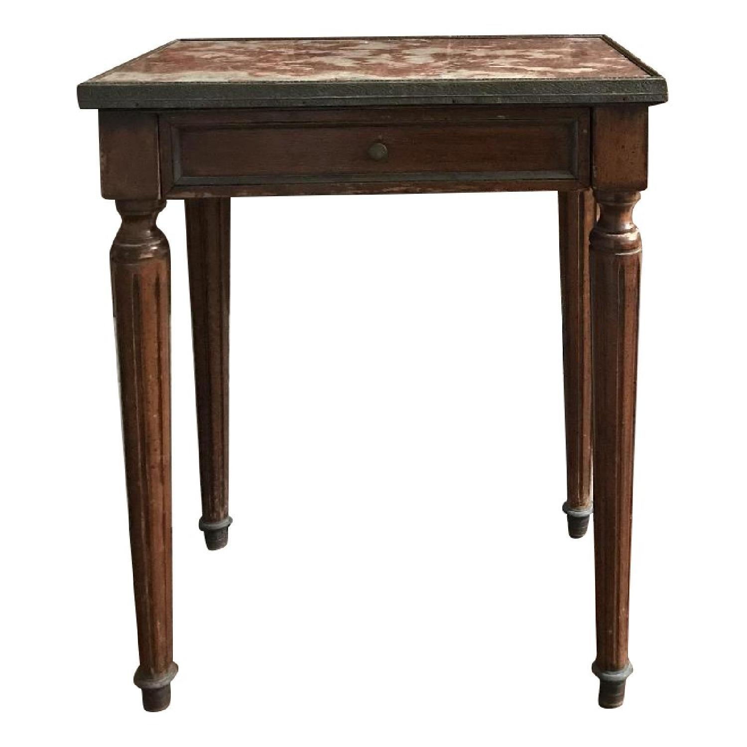 Danby Vintage Louis XIV Marble Top Side/End Table