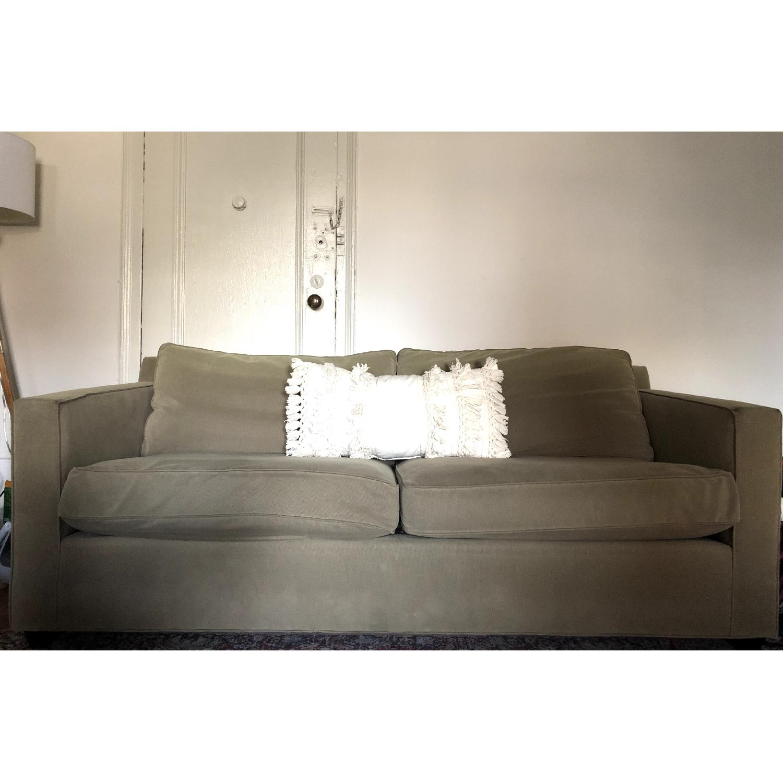Crate & Barrel Suede Sofa-0