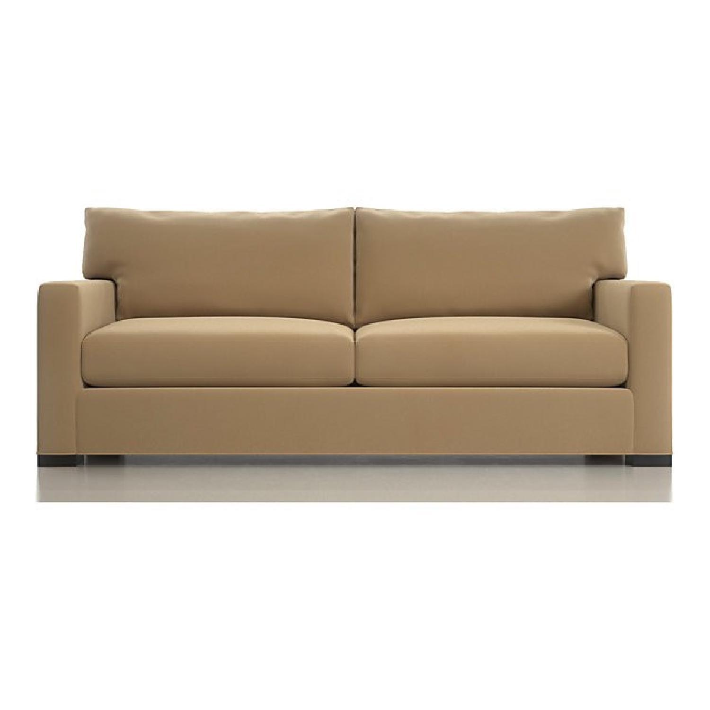 Crate & Barrel Suede Sofa