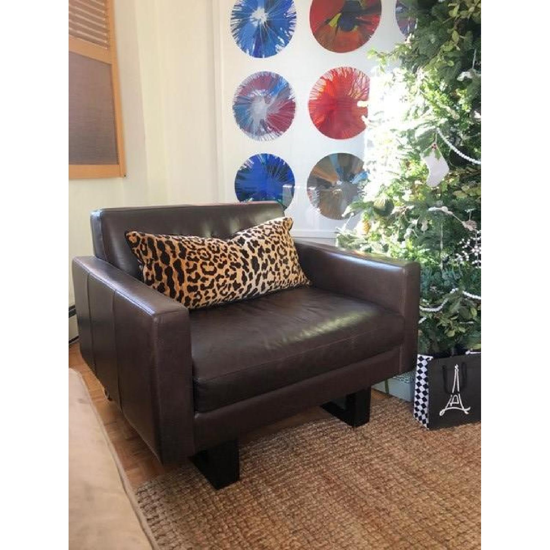 Room & Board Wells Leather Armchair-0