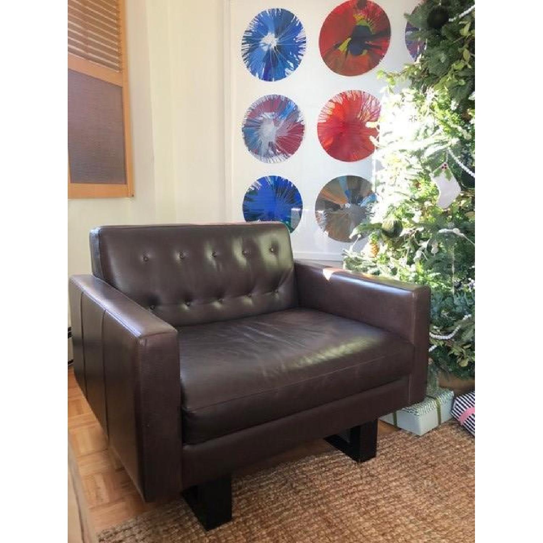Room & Board Wells Leather Armchair-1