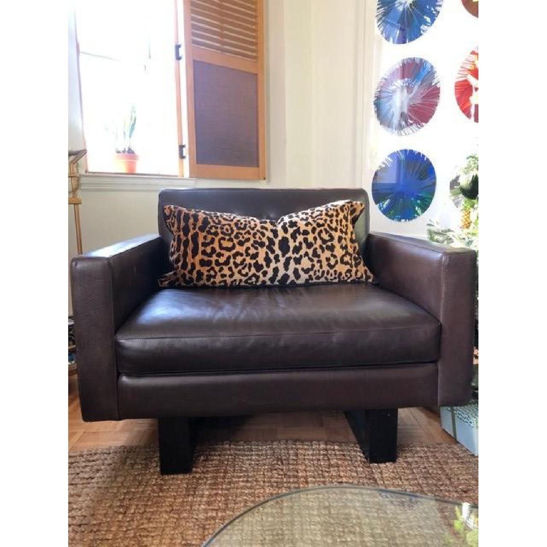 Room & Board Wells Leather Armchair-3