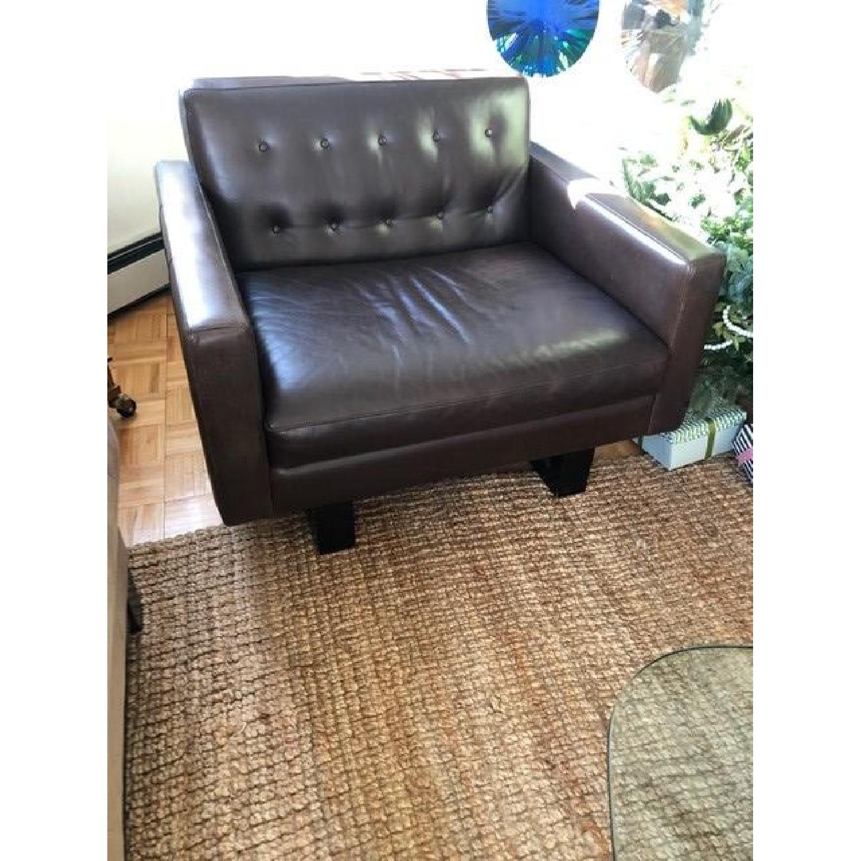 Room & Board Wells Leather Armchair-4