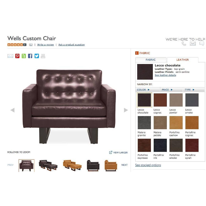 Room & Board Wells Leather Armchair-6
