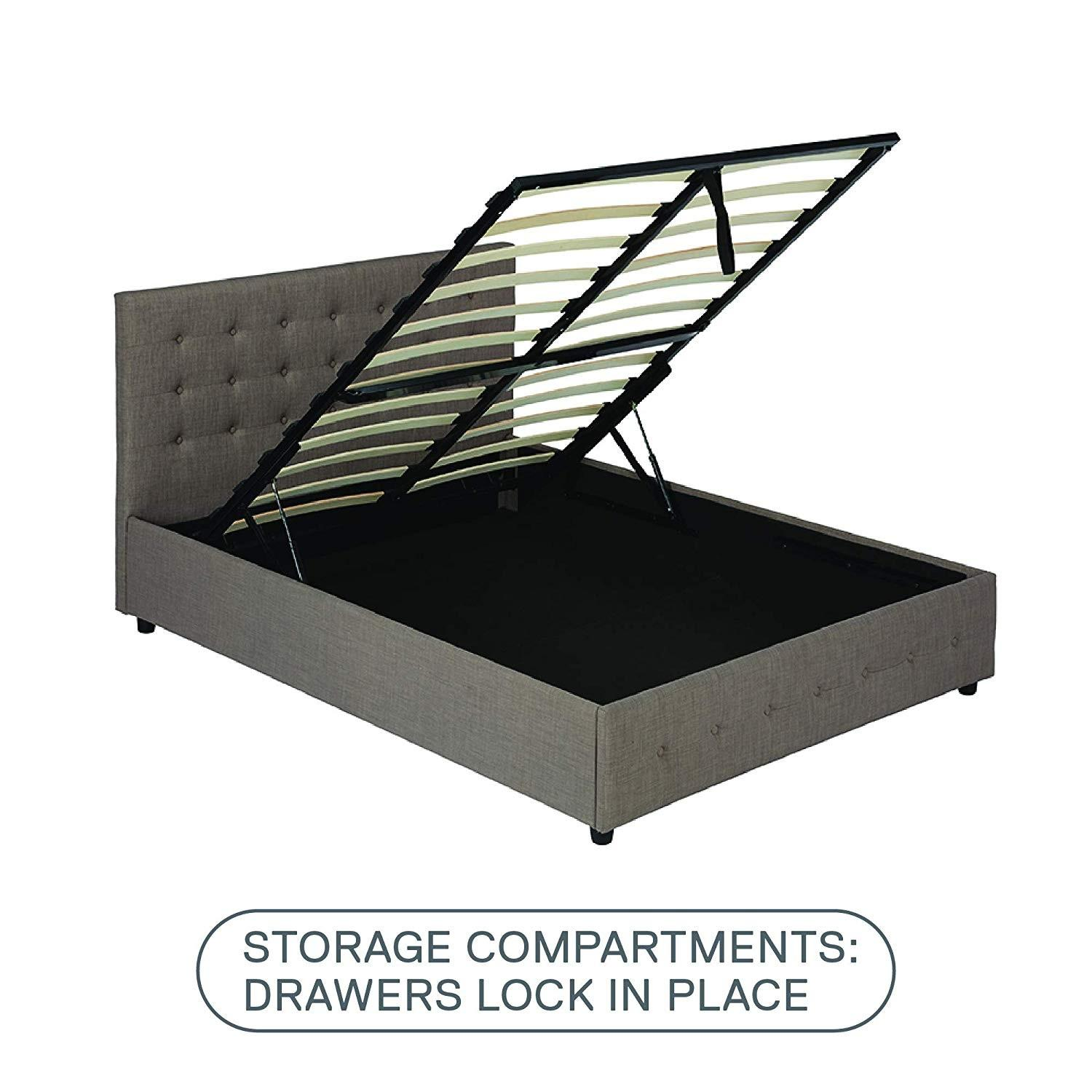 DHP Furniture Platform Bed w/ Gas Lift Storage-4