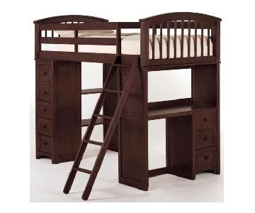 NE Kids Loft Bed w/ Drawers, Desk & Chair