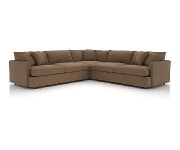 Crate & Barrel Lounge II 3-Piece Sectional Sofa