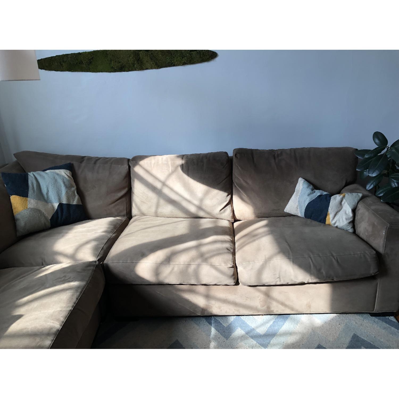 Crate & Barrel Lounge II 3-Piece Sectional Sofa-2