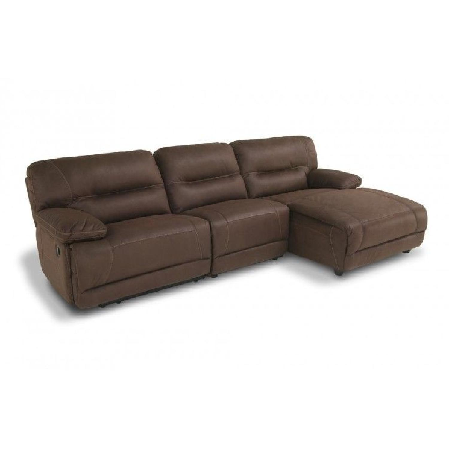 Bob\'s Suede 3 Piece Reclining Sectional Sofa